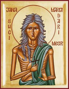 Byzantine Icon Paintings - St Mary of Egypt by Julia Bridget Hayes St Mary Of Egypt, Religious Images, Religious Icons, Byzantine Icons, The Son Of Man, Orthodox Icons, Sacred Art, Our Lady, Fine Art America