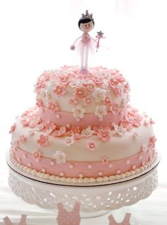 Floral princess ballerina birthday cake