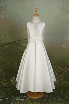 261694261fb5 Elegant Mikado flower girl dress with pleated skirt