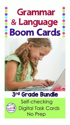Boom Cards Grammar This no prep, grammar and ELA activities Bundle features 15 Grammar Boom Cards Decks for infusing technology in the classroom. (CCSS & updated ELAR TEKS) Contains 15 resources with movable answers. This bundle is packed full of fun Grammar Activities, Teaching Resources, Fun Activities, Classroom Resources, Teaching Ideas, Primary Resources, Classroom Rules, 3rd Grade Classroom, Technology