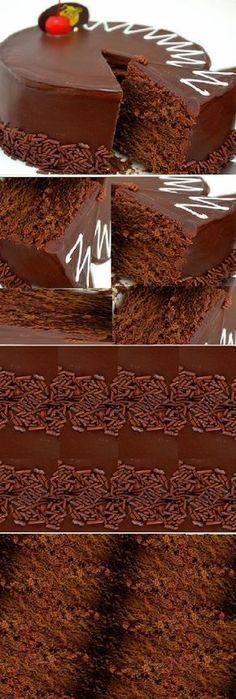 Easy to make chocolate cake! Love Chocolate, Chocolate Cake, Cake Cookies, Cupcake Cakes, Sweet Recipes, Cake Recipes, Pan Dulce, Pie Cake, Pastry Cake