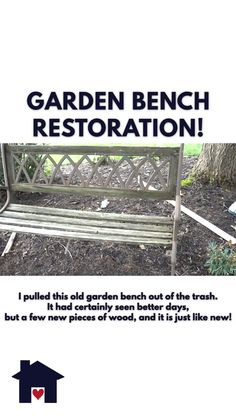 Garden Bench Restoration Garden Bench Restoration Jenni Roots 038 Wings Furniture Simple DIY Projects rwfurniture Roots and Wings Videos Have an nbsp hellip diy videos Small Wooden Projects, Wood Projects That Sell, Scrap Wood Projects, Woodworking Projects That Sell, Popular Woodworking, Diy Projects, Woodworking Hacks, Woodworking Wood, Diy Furniture Videos
