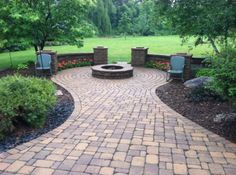 patio to a fire pit
