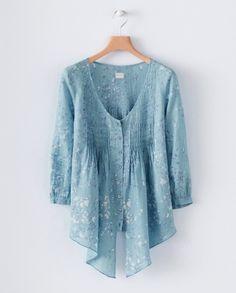 Product Image of Printed pintuck shirt