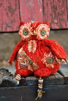 Новые фотографии Owl Artwork, Zombie Dolls, Owl Crafts, Fabric Birds, Doll Repaint, Soft Sculpture, Softies, Bird Feathers, Handmade Art