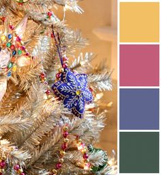 @inspiredbycharm believes in holiday classics…with a splash of pink & purple. Colors: Warm Gold, Kissable Pink, Dusty Violet, Deep Forest Pine.