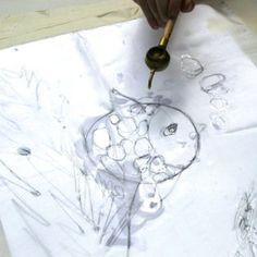 Step 2 - Batik - Outline your design in wax...