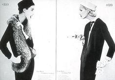 gorgeous Alexey Brodovitch spread for Harper's Bazaar, Feb 1955. Photograph by Richard Avedon.