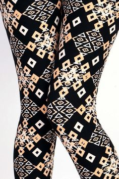 Love this geometric pattern for a fun leggings outfit! Abby + Anna's Boutique has super soft leggings that come in girls ($13), one size ($15), and plus sizes ($17). There are tons of adorable matching mother and daughter leggings too.