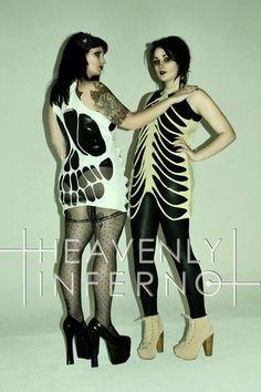 All sizes & colours SKELETON SKULL dress top t by HeavenlyInferno, £32.00