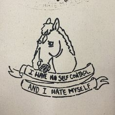 Bojack Horseman patch by sweetsoundofhumility on Etsy
