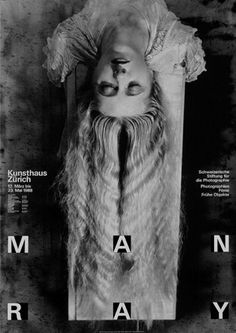 poster | M A N R A Y (Man Ray)   #typography