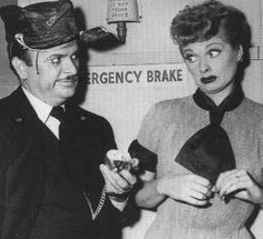 I Love Lucy...Lucy causes trouble on the train during the gang's return trip home from California. Actor Frank Nelson who's shown playing the train conductor was one of several actors/actresses that appeared in several other episodes as different characters Some of his characters included a police chief, Mr. Benjamin the talent agent, Freddie Filmore the radio show host and Ralph Ramsey married to Betty Connecticut neighbors of the Ricardo's. In fact he appeared in every season of the show.