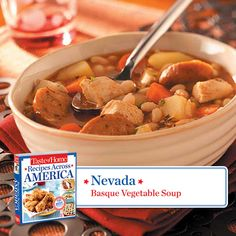 Looking for a warm dish for these cooler evenings? Try this delicious Basque Vegetable Soup #recipe from @TasteofHome.