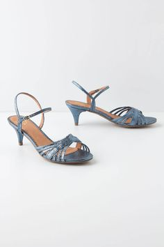 Miss Albright's Glittered Heels - Perfect heel size great blue