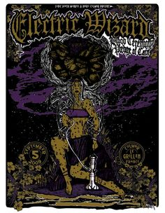 Electric Wizard, Blood Ceremony, Pledge Of Cain Stoner Rock, Tour Posters, Band Posters, Pop Art Decor, Poster Pictures, Thrash Metal, Death Metal, Concert Posters, Horror Art