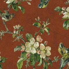 Vliestapete floral blumen blau wei gold tapeten rasch for Tapeten katalog bestellen