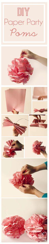 DIY Printing Paper Poms!