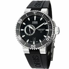 Oris Aquis Titan Small Second Men's Black Rubber Strap Automatic Watch 74376647154RS Oris. $1823.99
