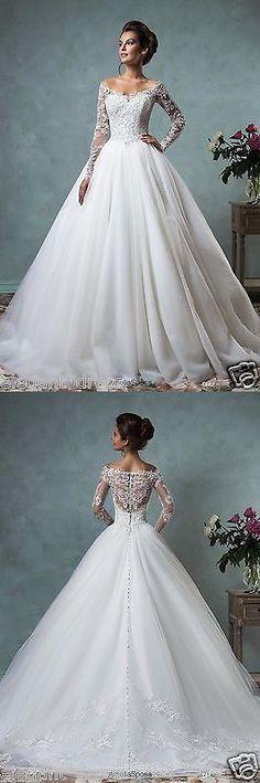 Wedding Dresses: New White Ivory Lace Wedding Dress Bridal Gown Custom Size 4 6 8 10 12 14 16 18+ -> BUY IT NOW ONLY: $158 on eBay!
