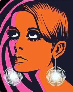 instagram.com/justin_coffee 60s Art, Retro Art, Vintage Art, Frida Art, Graffiti, Vintage Graphic Design, Hippie Art, Art Pop, Twiggy