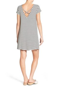 SO MANY WAYS to wear it!!!   Socialite Stripe Cross Back Shift Dress available at #Nordstrom