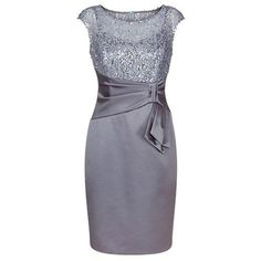 Grey Sheath Bateau Cap Sleeves Mother of The Bride Dress with Sequins