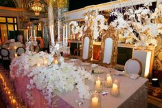 Amazing head table!  Wedding by Monte-Carlo Weddings.