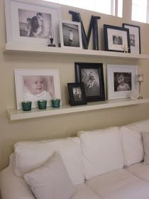 IKEA Shelves over the Couch Decor