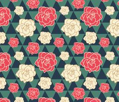 Portland Rose City fabric by natalierobin on Spoonflower - custom fabric