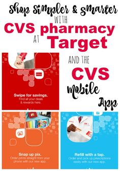 Shop Simpler and Smarter with CVS pharmacy at Target and the CVS Mobile App ad