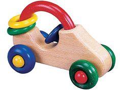 [Gogo Toys ゴーゴートーイズ]くるま 安全性の高いドイツ製の水性塗料した、赤ちゃんの為の木製玩具です。