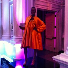 Model wearing look from Ebony Fair Fashion Show at gala for Chicago History Museum's new exhibit. #chicago