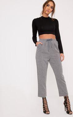 Diya Grey Cropped Trousers