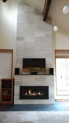 Newest Pictures Fireplace Mantels makeover Concepts Fireplace Design Ideas Photo Gallery – Fireplace Mantels, Surrounds Photos, Fini… , Fireplace D White Wash Fireplace, Fireplace Facing, Tall Fireplace, Fireplace Bookshelves, Brick Fireplace Makeover, Shiplap Fireplace, Fireplace Hearth, Fireplace Remodel, Modern Fireplace