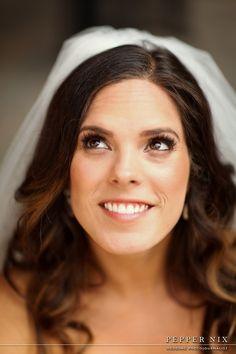 natural makeup and hair idea for wedding