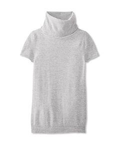 Christopher Fischer Women's Short Sleeve Cashmere Sweater (Sparkler Grey)