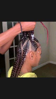 Black Kids Braids Hairstyles, Braided Cornrow Hairstyles, Braids Hairstyles Pictures, Braids For Black Hair, 4 Braids Cornrows, Braids For Black Women Cornrows, Little Black Girls Braids, Cornrow Braid Styles, Big Box Braids Hairstyles