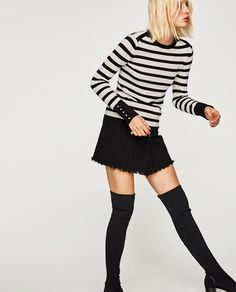 SWEATER WITH PEARLY CUFFS-- | ZARA United Kingdom