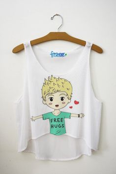 Niall Horan Free Hug Crop Top adorbs!!
