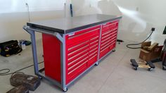 Craftsman vs HF Tool Chests/ Cabinets - Page 2 - : and Off-Roa. - Bancada - Welcome Crafts Garage Tool Storage, Garage Tool Organization, Garage Tools, Garage Shop, Garage House, Diy Garage, Garage Workshop, Garage Plans, Bike Storage