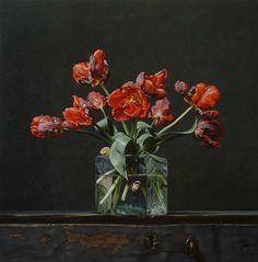 Roman Reisinger - Still life with parrot tulips