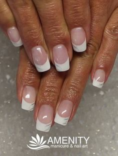 Nailart dezent The post Nailart dezent appeared first on Nageldesign. French Nails, Ongles Gel French, Nailart French, French Nail Designs, Gel Designs, Short Nail Designs, White Tip Nails, Love Nails, Nail Manicure