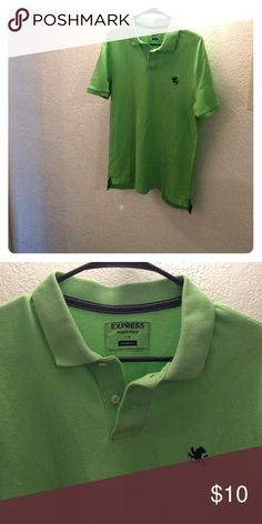 Men's EXPRESS polo Bright green polo. Super comfy. Modern fit. Lightly used Express Shirts Polos