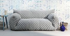 Designer sofa with removable cover by Nuvola