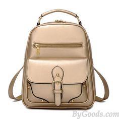 College Bag Solid Brief Single Hasp Rivet Retro School Backpack Lace Backpack, Retro Backpack, Backpack For Teens, Cute Backpacks, Girl Backpacks, School Backpacks, Fashion Bags, Fashion Backpack, Women's Fashion