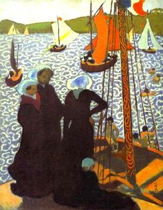 Maurice Denis (French, 1870-1943) - Regata at Perros, c. 1892