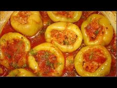 Carne, Shrimp, Food And Drink, Stuffed Peppers, Meat, Vegetables, Youtube, Stuffed Pepper, Vegetable Recipes