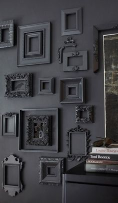 Vintage Frames used as wall decor #ShawFloors