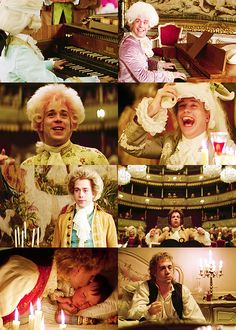 """#Amadeus. Favorite line: """"Too many notes for the royal ear!"""" #masterpiece #movie #film #Mozart"""